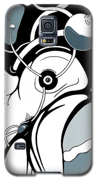 Aqua Grid Galaxy S5 Case
