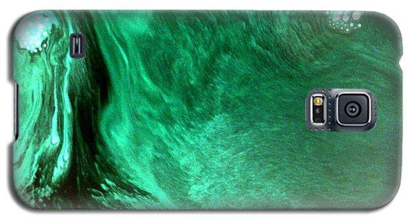Galaxy S5 Case featuring the mixed media Aqua Tree by Salman Ravish