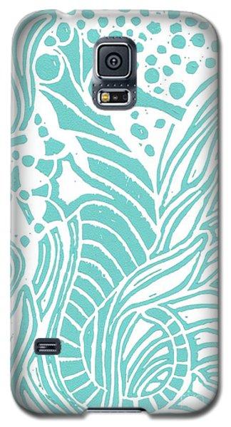 Aqua Seahorse Galaxy S5 Case by Stephanie Troxell