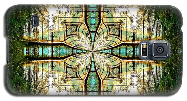 Kaleidoscope Aqua Sunrise Galaxy S5 Case