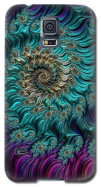 Aqua Swirl Galaxy S5 Case
