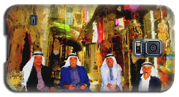 Galaxy S5 Case featuring the painting Arab Merchants Of Jerusleum by Ted Azriel