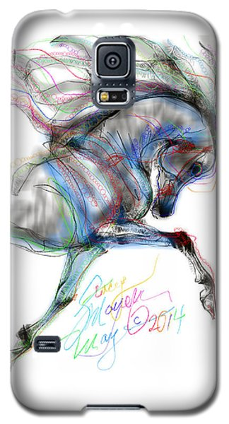 Arabian Horse Trotting In Air Galaxy S5 Case