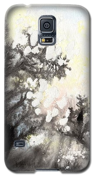 Galaxy S5 Case featuring the painting Arbres En Feu by Marc Philippe Joly