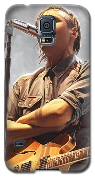 Galaxy S5 Case featuring the painting Arcade Fire Win Butler Artwork by Sheraz A
