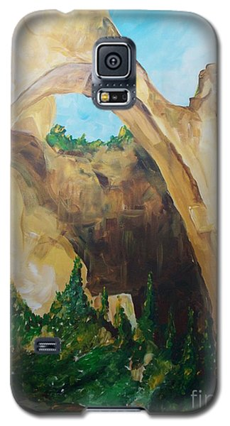 Galaxy S5 Case featuring the painting Arch by Eric  Schiabor
