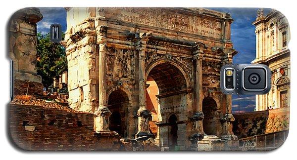 Arch Of Septimius Severus Galaxy S5 Case by Anthony Dezenzio