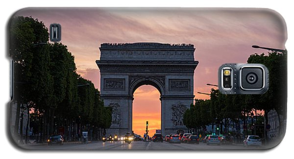 Arch Of Triumph With Dramatic Sunset Galaxy S5 Case by Gurgen Bakhshetsyan