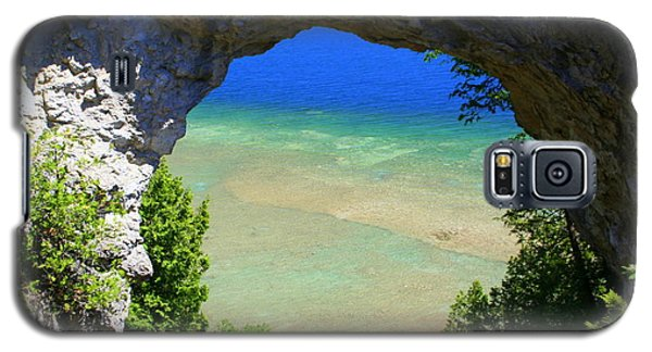 Galaxy S5 Case featuring the photograph Arch Rock by Debra Kaye McKrill