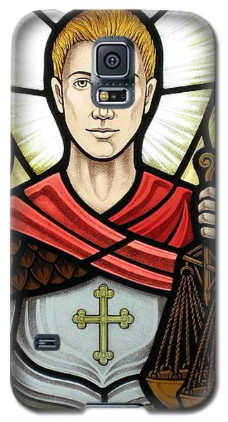 Archangel Michael Detail Galaxy S5 Case by Gilroy Stained Glass