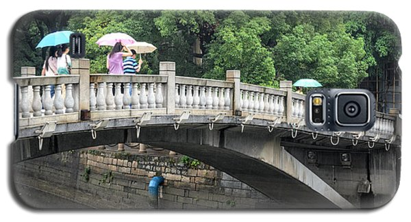 Arched Chinese Bridge With Umbrellas - Shamian Island - Guangzhou - Canton - China Galaxy S5 Case