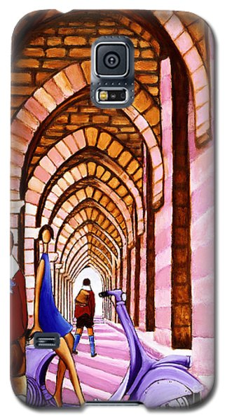 Arches Vespa And Flower Girl Galaxy S5 Case