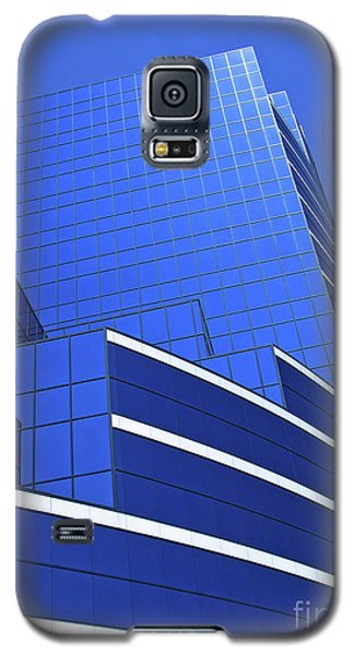 Galaxy S5 Case featuring the photograph Architectural Blues by Ann Horn