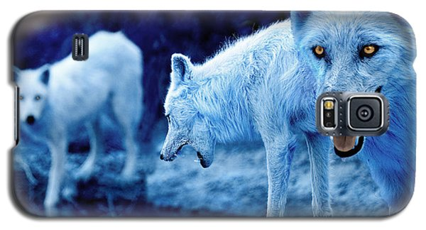 Arctic White Wolves Galaxy S5 Case by Mal Bray