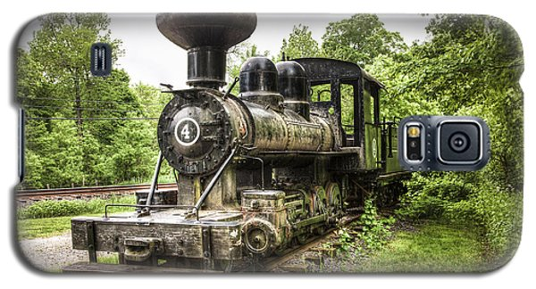 Galaxy S5 Case featuring the photograph Argent Lumber Company Engine No. 4 - Antique Steam Locomotive by Gary Heller