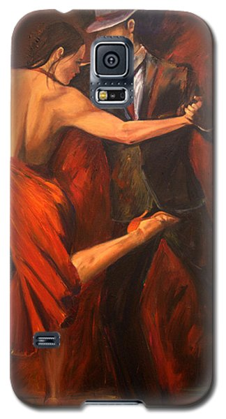Galaxy S5 Case featuring the painting Argentine Tango by Sheri  Chakamian