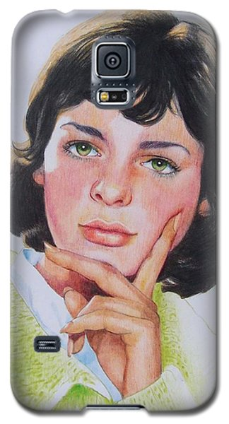 Galaxy S5 Case featuring the mixed media Ariane by Constance Drescher