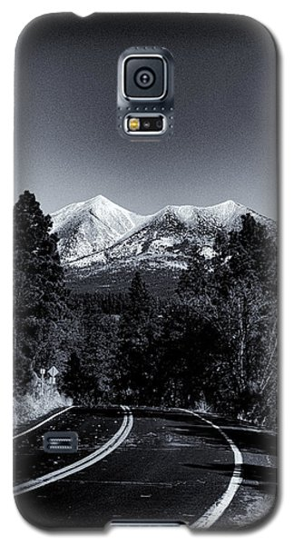 Arizona Country Road In Black And White Galaxy S5 Case by Joshua House
