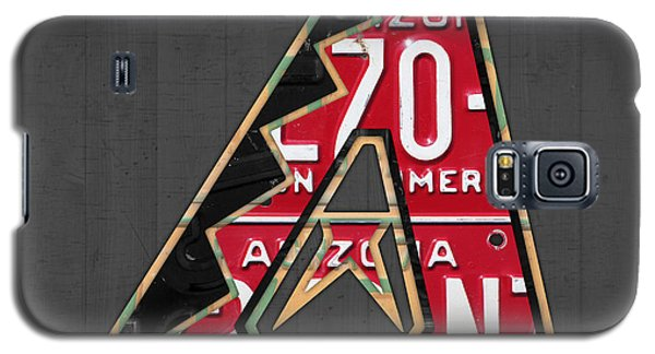 Arizona Diamondbacks Baseball Team Vintage Logo Recycled License Plate Art Galaxy S5 Case by Design Turnpike