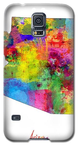 Arizona Map Galaxy S5 Case by Michael Tompsett