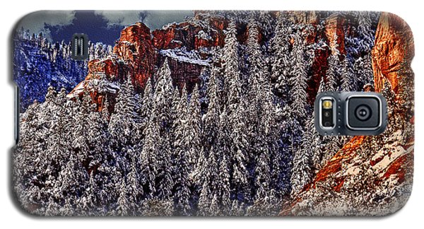 Arizona Secret Mountain Wilderness In Winter Galaxy S5 Case