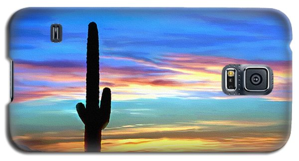Arizona Sunset Saguaro National Park Galaxy S5 Case