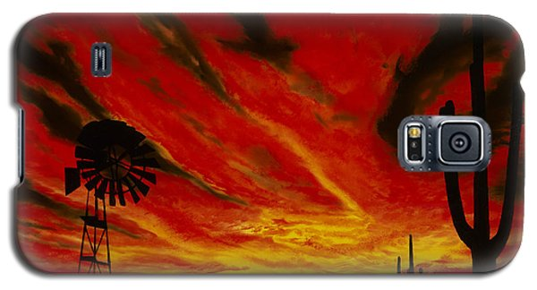 Galaxy S5 Case featuring the painting Arizona Sunset by Stuart Engel