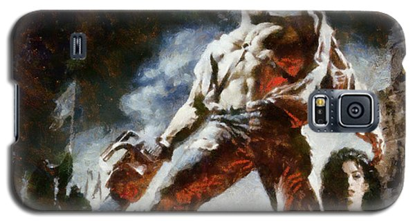 Galaxy S5 Case featuring the painting Army Of Darkness by Joe Misrasi