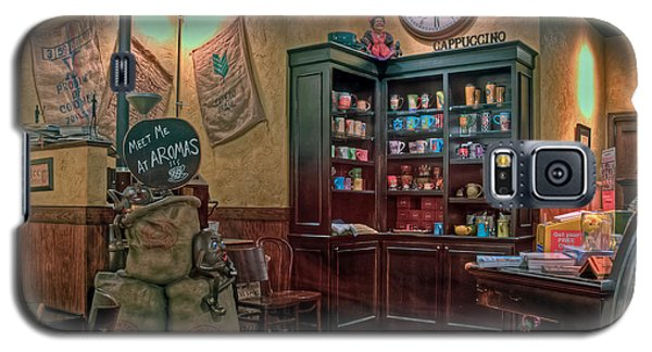 Galaxy S5 Case featuring the photograph Aromas Coffee Shop Newport News Virginia by Jerry Gammon