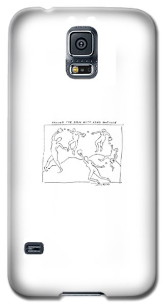 Sport Art Galaxy S5 Case - Around The Horn With Matisse: Matisse's Dancers by Michael Crawford