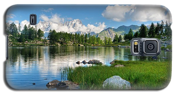 Galaxy S5 Case featuring the photograph Arpy Lake - Aosta Valley by Antonio Scarpi