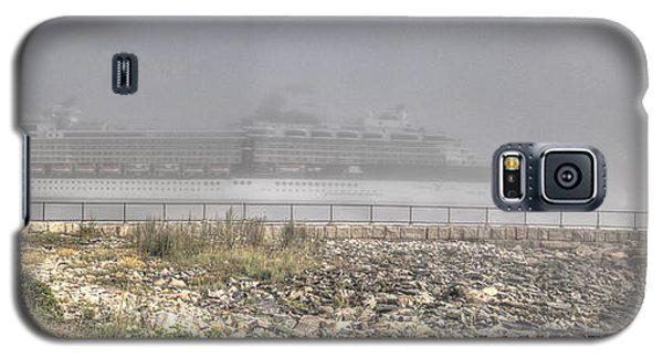 Galaxy S5 Case featuring the photograph Arrival In The Fog by David Bishop