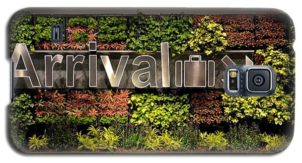 Arrival Sign Arrow And Flowers At Singapore Changi Airport Galaxy S5 Case
