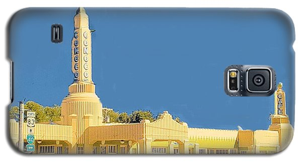 Galaxy S5 Case featuring the photograph Art Deco Gas Station by Janette Boyd