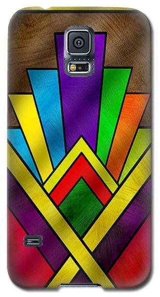 Art Deco Pattern 7v Galaxy S5 Case by Chuck Staley