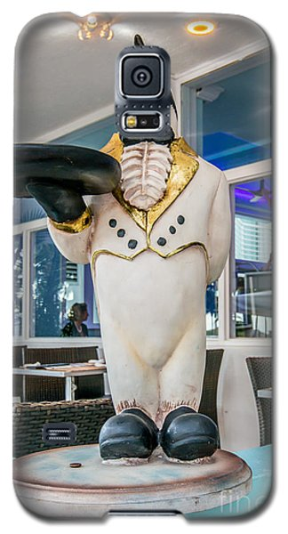 Art Deco Penguin Waiter South Beach Miami Galaxy S5 Case