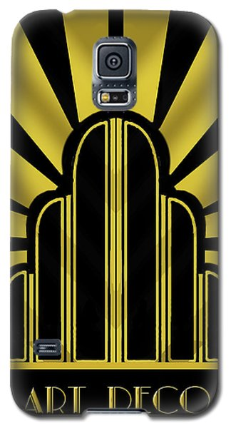 Art Deco Poster - Title Galaxy S5 Case