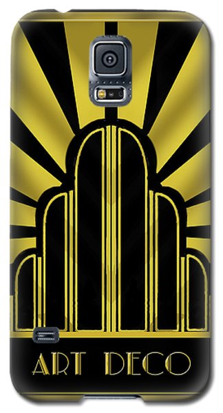 Art Deco Poster - Title Galaxy S5 Case by Chuck Staley