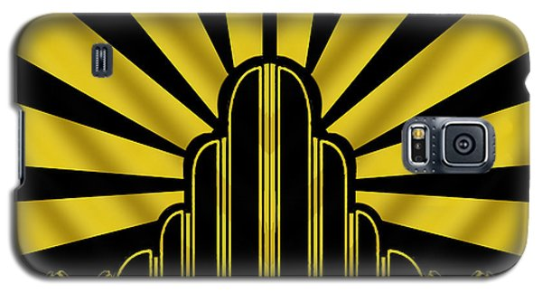 Art Deco Poster - Two Galaxy S5 Case by Chuck Staley