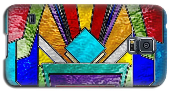 Art Deco - Stained Glass 6 Galaxy S5 Case by Chuck Staley
