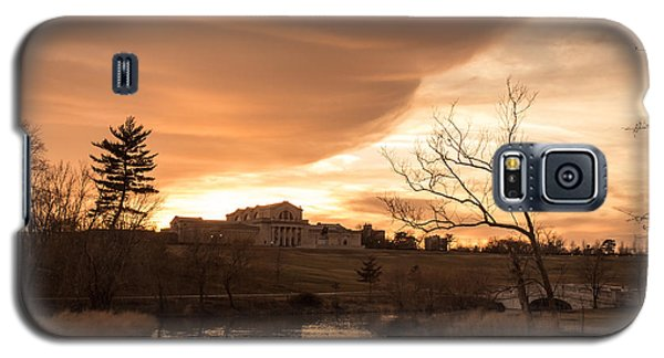 Art Hill Winter Sunset Galaxy S5 Case