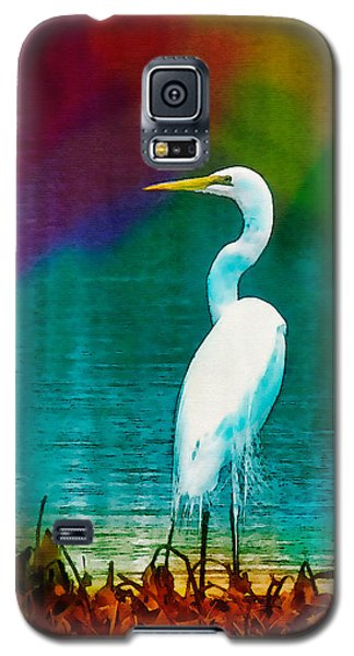 Art Of The Egret Galaxy S5 Case