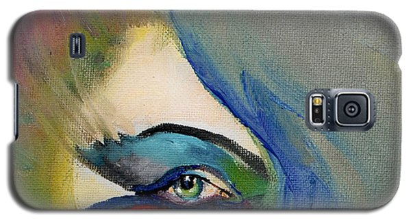 Galaxy S5 Case featuring the painting Artful Eye Of Mine by Maja Sokolowska
