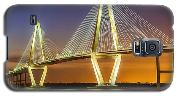 Arthur Ravenel Bridge Twilight Galaxy S5 Case