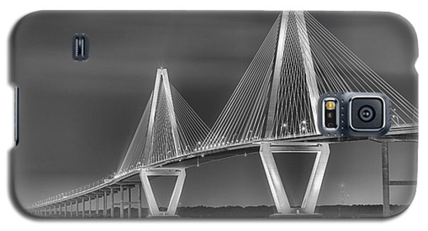 Arthur Ravenel Jr. Bridge In Black And White Galaxy S5 Case