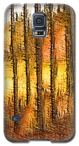 Artistic Fall Forest Abstract Galaxy S5 Case