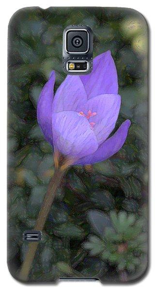 Purple Flower Galaxy S5 Case by John Freidenberg