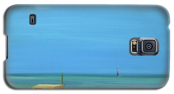 Galaxy S5 Case featuring the painting Aruba by Donna Tuten