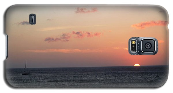 Aruba Sunset Galaxy S5 Case by Living Color Photography Lorraine Lynch