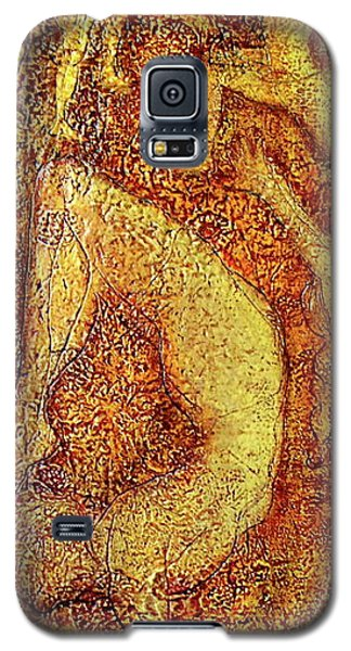 Galaxy S5 Case featuring the painting Arunima by D Renee Wilson